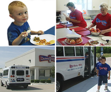 Little Boy Eating, Women Cooking and Our Shuttle System